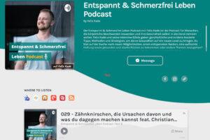 """Read more about the article Zähneknirschen: Interview im """"Entspannt und schmerzfrei leben""""-Podcast (Audio)"""