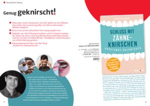 """Read more about the article Vorschau auf den Ratgeber """"Schluss mit Zähneknirschen!"""""""